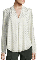 MICHAEL Michael Kors Metallic Medallion Print Blouse