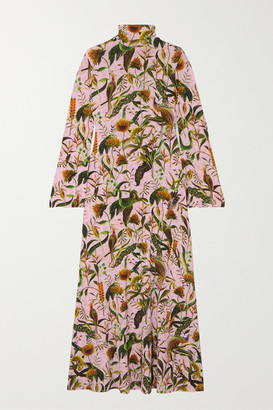 Dodo Bar Or Annabel's Printed Stretch-jersey Turtleneck Maxi Dress - Pastel pink