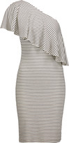 Kain Label Hadley one-shoulder ribbed stretch-modal dress
