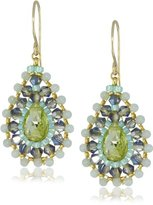 Miguel Ases Amazonite Small Tear Drop Earrings