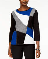 Alfred Dunner High Roller Colorblocked Sweater