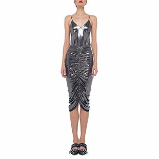 KAMALIKULTURE by Norma Kamali Slip Top (Gunmetal) Women's Clothing