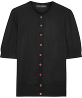 Dolce & Gabbana Embellished Silk And Cashmere-blend Cardigan - Black