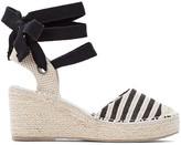 Castaluna Plus Size Wide Fit Striped Tie-Leg Wedge Espadrilles