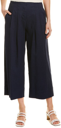 Rebecca Taylor Stretch Linen-Blend Pant