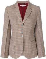 Stella McCartney houndstooth pattern blazer
