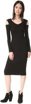 Enza Costa Cold Shoulder Midi Dress