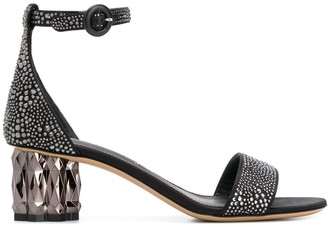 Salvatore Ferragamo Stud-Embellished Sandals