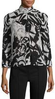 Alice + Olivia Women's Abigail Printed Silk Top
