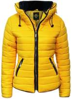Fashion Wardrobe Womens Ladies Quilted Padded Coat Bubble Puffer Jacket Fur Collar Hooded Thick [, UK L]
