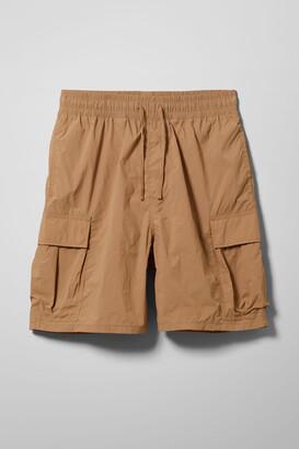 Weekday Nael Nylon Cargo Shorts - Beige