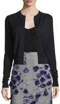 Jason Wu Wool-Blend Lace-Back Cardigan Sweater, Black