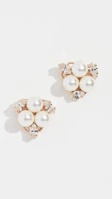 Anton Heunis Glass Pearl Cluster Earrings