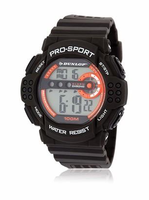 Dunlop Unisex Adult Digital Quartz Watch with Rubber Strap DUN208G08