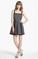 Juicy Couture Stripe Fit & Flare Dress