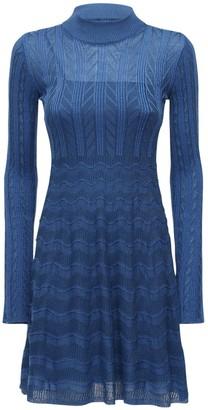M Missoni Wool Blend Knit Mini Dress