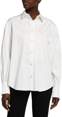 ADEAM Camellia Poplin Pleated Shirt