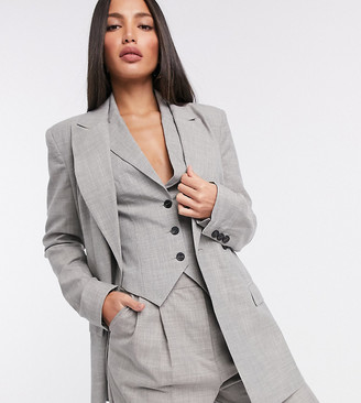 Asos Tall ASOS DESIGN Tall mansy 3 piece suit blazer in taupe texture