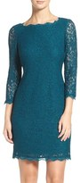 Adrianna Papell Lace Overlay Sheath Dress (Regular & Petite)