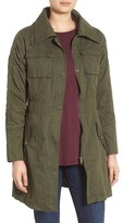 Steve Madden Women's Double Collar Army Jacket