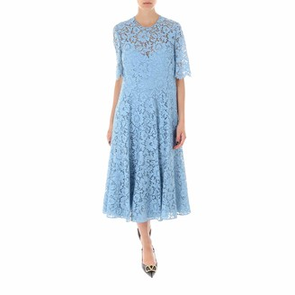 Valentino Heavy Lace Flared Dress