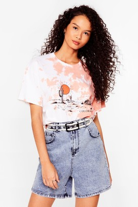 Nasty Gal Womens Lost in the Desert Colorado Graphic Tee - Orange - S
