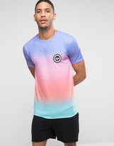 Hype Gradient T-Shirt With Crest Logo