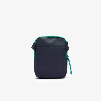 Lacoste Men's LCST Coated Canvas Small Flat Crossbody Bag