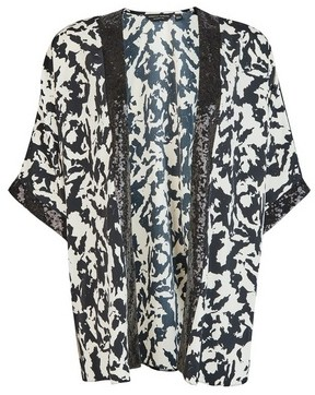 Dorothy Perkins Womens Monochrome Printed Sequin Cover Up
