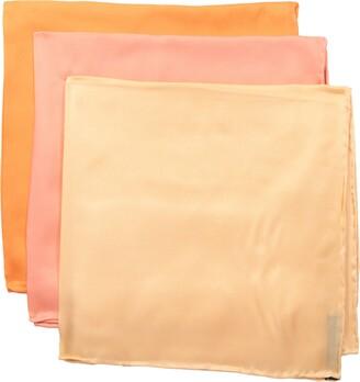 "Stacy Adams Men's 100% Silk Hand Rolled 17""x 17"" Pocket Square Three Piece Set"
