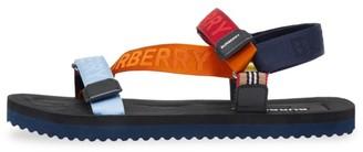 Burberry Patterson Colorblock Logo Sport Sandals