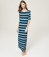 LOFT Tall Striped Short Sleeve Maxi Dress