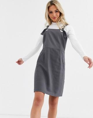 Glamorous pinafore dress-Grey