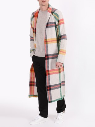 The Elder Statesman Tartan Print Overcoat