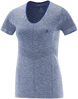 Salomon Deep Cobalt Elevate Seamless Short-Sleeve Tee - Women