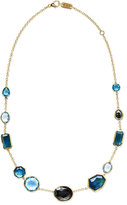 Ippolita 18K Rock Candy Mixed-Set Necklace in Steel Blue, 18""
