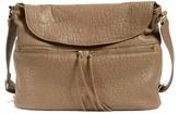 Elizabeth and James 'James' Large Grain Leather Crossbody Hobo