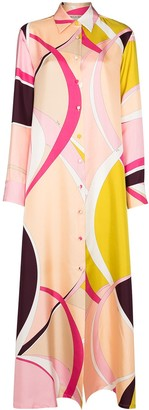 Emilio Pucci x Browns 50 abstract-print silk shirt-dress