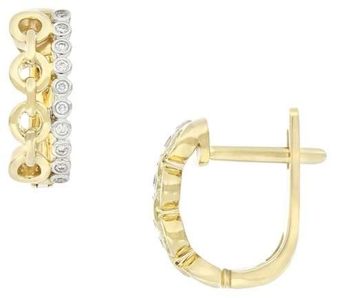 3a23794a8 Bezel Set Diamond Earrings - ShopStyle