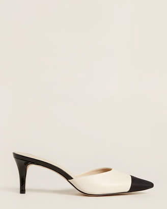 Enzo Angiolini Cream & Black Ranielle Mule Pumps