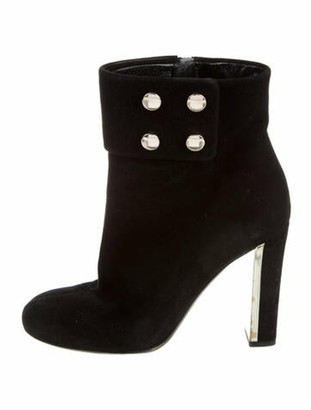 Gucci Suede Studded Accents Boots Black