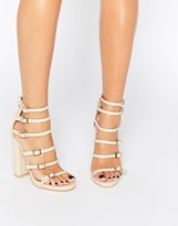Missguided Block Heeled Buckle Sandal