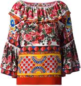 Dolce & Gabbana Mambo print peasant blouse - women - Silk/Cotton - 40