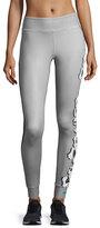 Stella McCartney Yoga Floral-Print Leggings, Ice Gray/Granite