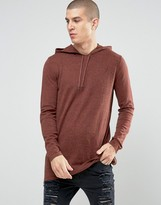 Asos Longline Knitted Hoodie with Side Zips