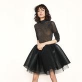 Maje Coated tulle skirt