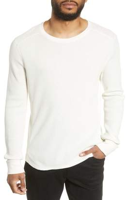 Vince Regular Fit Thermal Knit Crewneck Sweatshirt