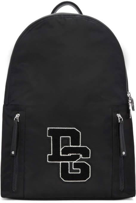 Dolce & Gabbana Black Patch Backpack