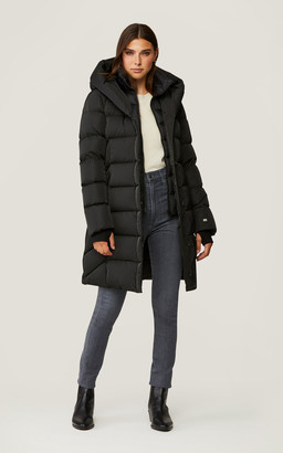 Soia & Kyo SONNY sporty down coat with nylon puffer bib and collar