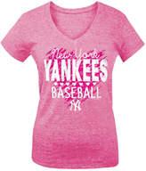 5th & Ocean New York Yankees Pink Hearts T-Shirt, Big Girls (4-16)